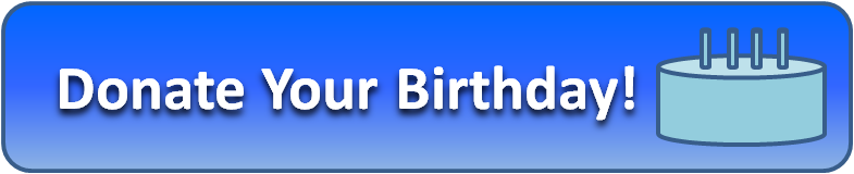 Donate Your Birthday - Aztech Labs Button